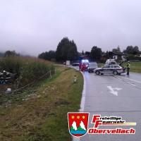 Verkehrsunfall B106 - Flattach